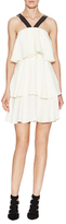 Rachel Zoe Vivre V-Strap Tiered Ruffle Dress