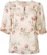 Vilshenko floral ruffle trim blouse - women - Silk - 6