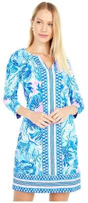 Lilly Pulitzer UPF 50+ Nadine Dress (Saltwater Blue Shade Seekers Engineered) Women's Dress