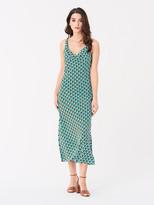 Diane von Furstenberg Finley Viscose Crepe de Chine Slip Dress