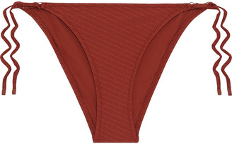 Zimmermann Ribbed Low-rise Bikini Briefs