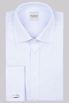 Hardy Amies Slim Fit Sky Double Cuff Oxford Shirt