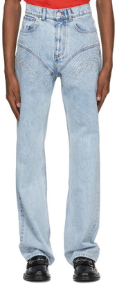 Y/Project Blue Crystal Jeans