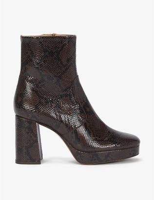 Sandro Carmen leather ankle boots