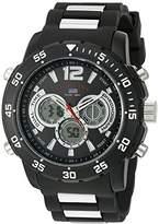 U.S. Polo Assn. Sport Men's Quartz Metal and Rubber Casual Watch, Color:Black (Model: US9544)