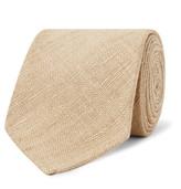 Drakes Drake's - 8cm Slub Silk Tie - Sand