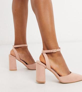 Raid Exclusive Neima block heeled shoes in blush