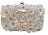 La Regale Floral Beaded Minaudiere.