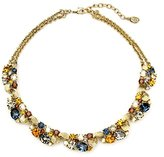 Ben-Amun Women's Arabian Nights Gold and Sapphire Crystal Cluster Necklace