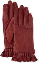 Rebecca Minkoff Leather Mini Tassel Gloves, Aubergine