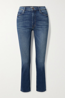 Mother The Dazzler Mid-rise Straight-leg Jeans - Blue