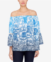 Catherine Malandrino Mina Off-The-Shoulder Peasant Top