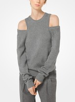 Michael Kors Cashmere and Cotton Peekaboo Pullover