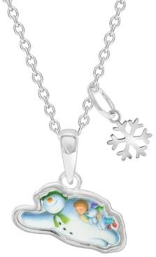 Rhona Sutton Snowman Flying Pendant Necklace