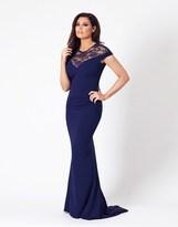 Jessica Wright Lace Panel Fishtail Maxi Dress