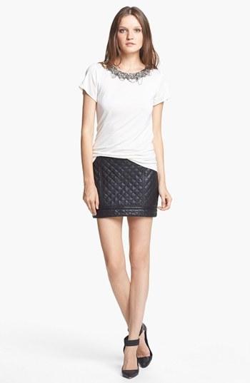 Haute Hippie Women's Quilted Leather Miniskirt