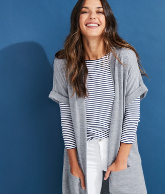 Vineyard Vines Relaxed Dolman Open Front Cardigan