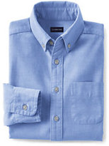 Lands' End Little Kids Washed Oxford Shirt-Blue Jay Stripe