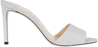 Jimmy Choo Stacey Glitter Slide Sandals
