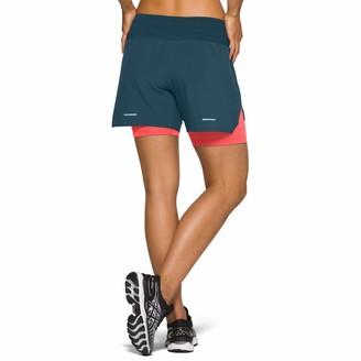 Asics 2-in-1 5.5 Inch Women's Shorts - AW20 - Medium Navy Blue