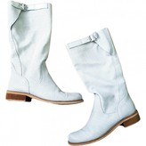 Non Signã© / Unsigned Non SignA / Unsigned White Leather Boots
