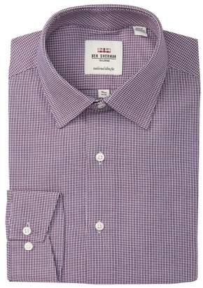 Ben Sherman Spice & Navy Checkered Tailored Slim Dress Shirt