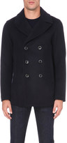 Emporio Armani Double-breasted wool-blend peacoat