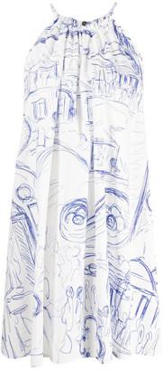 Erika Cavallini Printed Cotton Dress