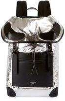 Givenchy Metallic Rider Backpack, Silver