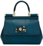 Dolce & Gabbana Sicily Small Stampa Iguana Top-Handle Bag