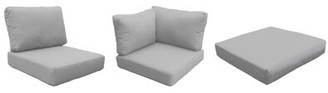 Orren Ellis 14 Piece Indoor/Outdoor Cushion Set Fabric: Gray