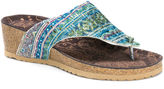 Muk Luks Sue Ellen Wedge Sandals