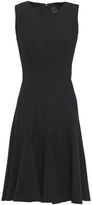 Carolina Herrera Fluted Wool-blend Twill Dress