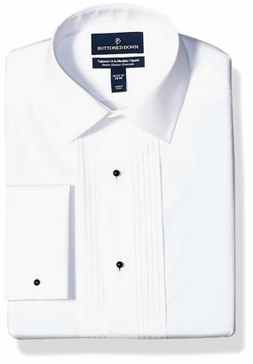 Buttoned Down Amazon Brand Men's Tailored Fit Easy Care Bib-Front Spread-Collar Tuxedo Shirt