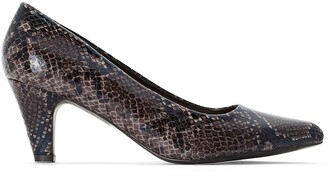 La Redoute Collections Plus Wide Fit Snake Print Heels