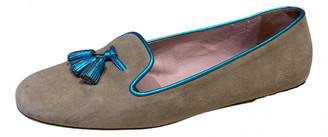Pretty Ballerinas Beige Suede Flats