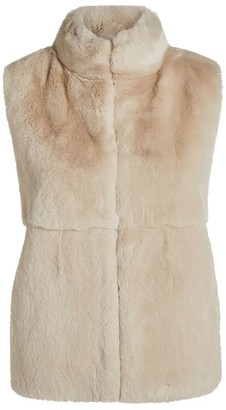 Peserico Rabbit Fur Knitted Gilet