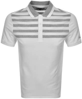 Michael Kors Yoke Stripe Polo T Shirt White