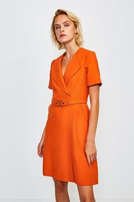 Karen Millen D Ring Cinch Waist Dress