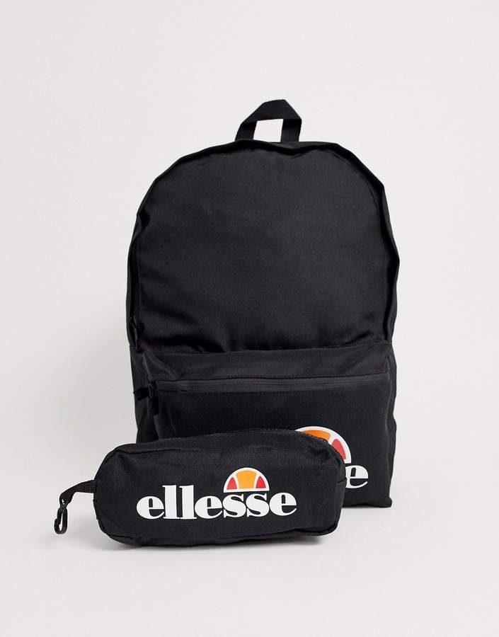 2eb16e79 Rolby logo backpack with pencil case in black