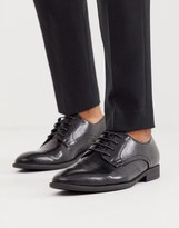 Asos Design DESIGN derby shoes in black faux leather