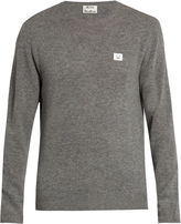 Acne Studios Dasher face-patch wool sweater