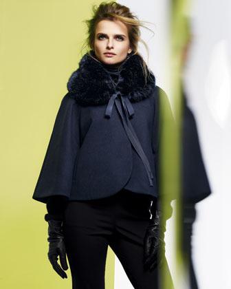 Elie Tahari Nadja Faux Fur Coat