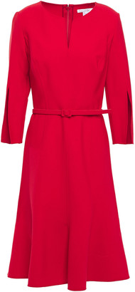 Oscar de la Renta Belted Wool-blend Dress
