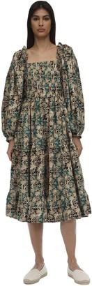 Lug Von Siga Daphne Printed Midi Dress