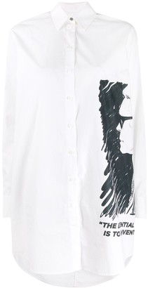 Karl Lagerfeld Paris loose-fit profile shirt dress