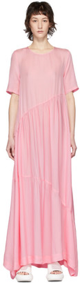 Collina Strada SSENSE Exclusive Pink Silk Charlie Engman Edition Ritual Dress
