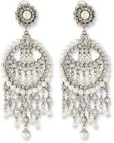 Jose & Maria Barrera Pearly Chandelier Clip Earrings