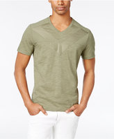INC International Concepts Men's Heathered Pieced V-Neck T-Shirt, Only at Macy's