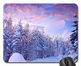 ToLuL Wintery Forest Mouse Pad, Mousepad (Winter Mouse Pad)